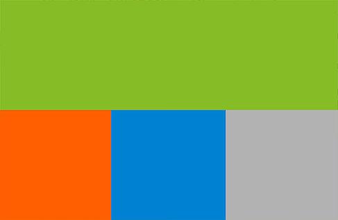 Die Markenfarben der HTW Berlin
