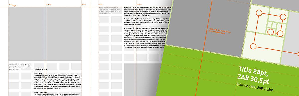 Das Gestaltungsraster einer Publikationen